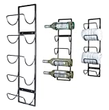 5 Bottle Wall Mounted Metal Wine Rack, Towel Rack