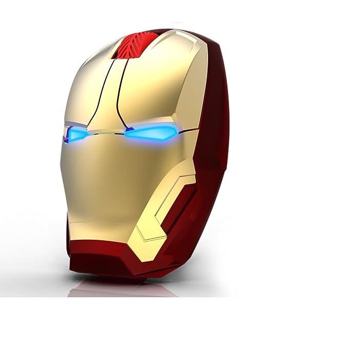 Iron Man recargable Wireless Mute silencioso para Ultra-thin ...