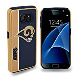 Galaxy S7 Case, Dreamwireless Los Angeles Rams Bold Dual Layer [Shock Absorbing] Protection Hybrid PC/TPU Rubber Case Cover For Samsung Galaxy S7, Blue/Gold