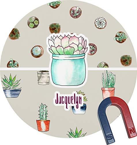 Cactus Round Magnet - Personalized Magnet Cactus