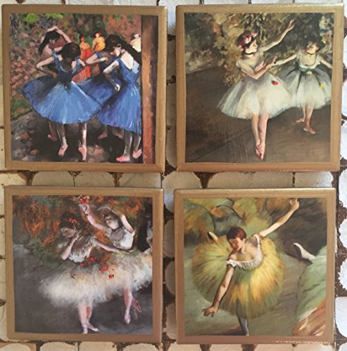 Coasters! Degas ballerina coasters with gold trim