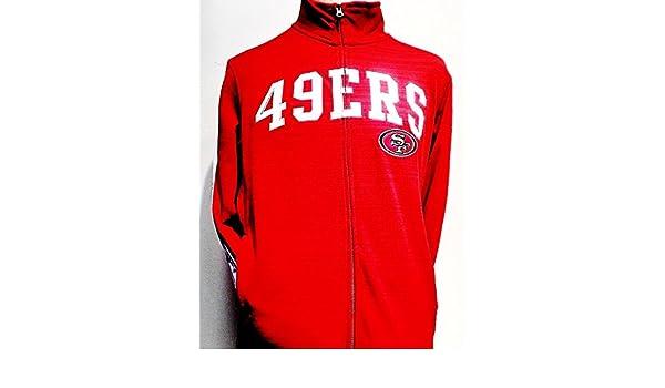Amazon.com   Licensed Sports Apparel San Francisco Football Forty-Niners  Full-Zip Poly Fleece Red Jacket   Sports   Outdoors b16b99afa