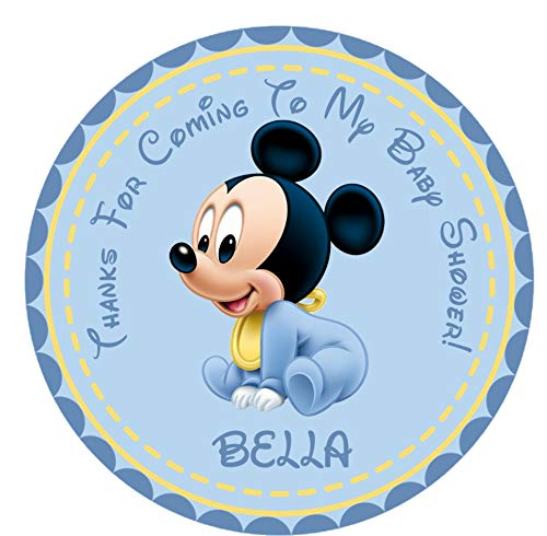 Mickey Mouse Baby Shower Favor Stickers, Mickey Mouse Baby Shower Decor, Mickey Mouse Baby Shower Supplies -