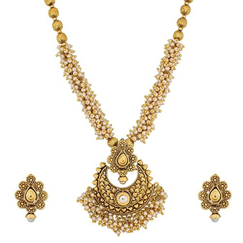 YouBella Jewellery Bollywood Ethnic Gold Plated Traditional Indian Necklace Set with Earrings for Women
