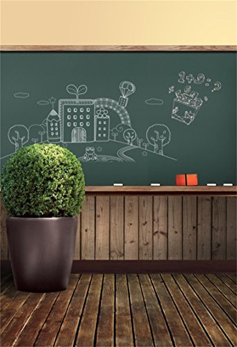 - AOFOTO 6x8ft Classroom Chalkboard Background Blackboard Photography Backdrop Old Wooden Floor Kid Boy Girl Child Portrait School Photoshoot Studio Props Video Drape Wallpaper