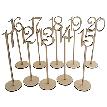 PIXNOR 20ST Basis 1-20 Wodden Tischnummern Mit Halter Für Die ...
