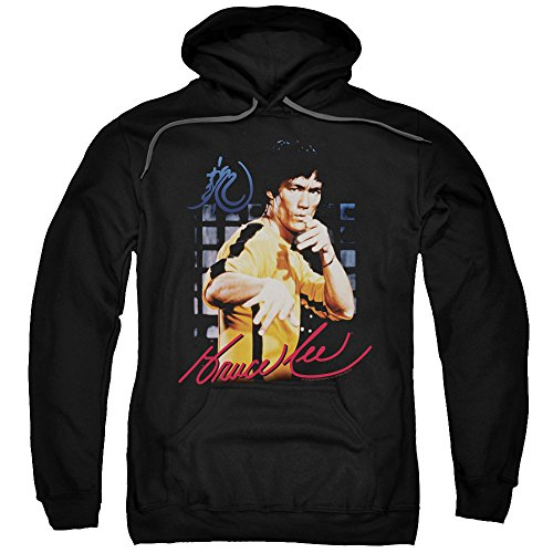 Bruce Lee Yellow Jumpsuit Mens Pullover Hoodie Black 3X