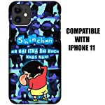 Gosmartkart® Shinchan Cool Printed Designer Hard PC Slim Light Weight Mobile Back Cover CaseFor Apple iPhone 11 (Blue…