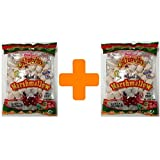 Fat Free Marshmallow Large Vanilla Assorted - 300 g/10.3oz Pack of 2 (2 x 150g/5.29 oz Total 300g) - HALAL Altayib