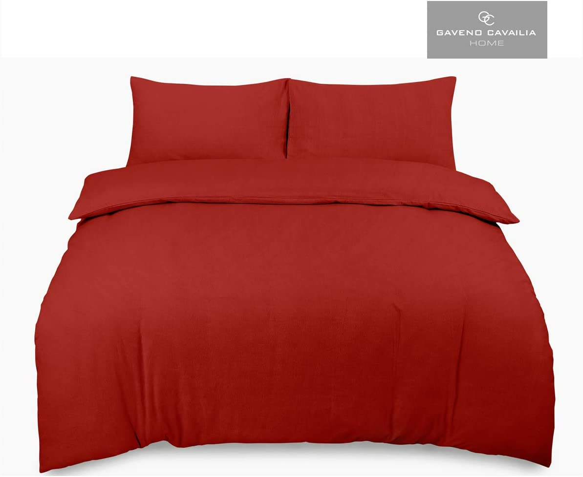 Grey 100/% Brushed Cotton Easy Care Flannelette Bed Linen Fitted Bedsheet and Flat Bedcloth with Matching Pillow Case Gaveno Cavailia Super Soft Plain Dyed Flannel Sheet Set Single Size Bedding