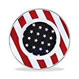 Enamelware - Stars and Stripes Pattern - 8½ Inch Sandwich Plate