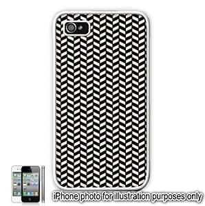 Black Cream Herringbone Print Pattern Apple iPhone 5s for kids Case Cover Skin White