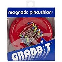 Grabbit Magnetic Sewing Pincushion with 50 Plastic Head Pins