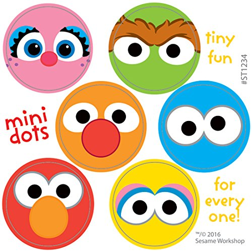 Sesame Street Characters Mini Dots - Prizes 600 Stickers per -