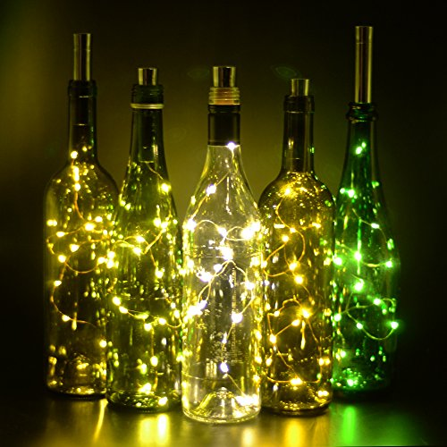 Fairy Lights, iGopeaks 30inch/ 75cm 15 LED Starry String Lights - Up to 72 hours Lighting - for Wine Bottle DIY, Party, Table Decor, Christmas, Halloween, Wedding Centerpieces - Warm White
