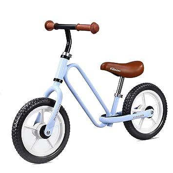 Bicicleta sin pedales Bici Blue Balance Bike for Boy - No Pedal Bicycle para Entrenamiento de