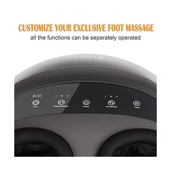Massaggiatore di Piedi Shiatsu Massaggio Plantare con Calore, Profondo Impastamento, Rotolamento e Compressione dell… 2 spesavip