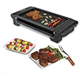 Barbecue Electric Indoor Grill Portable Smokeless Kitchen Non Stick Cooking BBQ