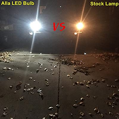 Alla Lighting 2200 Lumens Super Bright 6000K Xenon White LED Bulb High Power CSP Chipset 1157 7528 BAY15D LED Lights Bulbs for Back Up Reverse Light Lamp Replacement