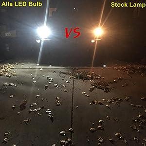 Alla Lighting 912 921 LED Backup Light Bulbs Super Bright LED 921 Bulb High Power 4014 30-SMD Extremely Bright CANBUS Error Free T15 906 W16W 921 LED Reverse Back Up Lights, 6000K White (Set of 2)