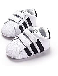 Newborn Baby Boys' Premium Soft Sole Infant Prewalker Toddler Sneaker Shoes