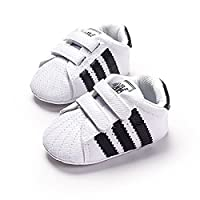 LiveBox Newborn Baby Boys' Premium Soft Sole Infant Prewalker Toddler Sneaker...