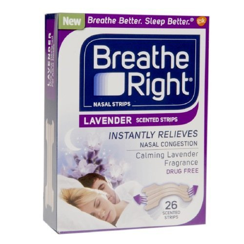 Breathe Right Nasal Strips, Lavender 26 ea by Breathe Right