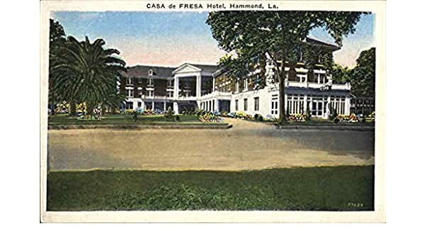 Amazon.com: Casa De Fresa Hotel Hammond, Louisiana Original Vintage  Postcard: Entertainment Collectibles