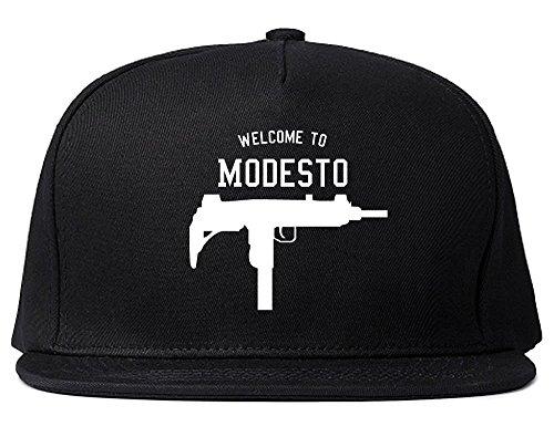 Welcome to Modesto Uzi Machine Gun California Snapback Hat Cap -