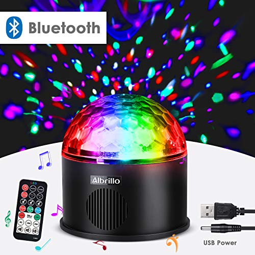 Albrillo Sound Activated Party Lights, Remote Control Disco Ball Light 9 Color with USB Bluetooth, LED Strobe Light for Birthday Parties Wedding Club