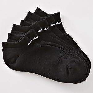 Nike Women's Performance No Show Socks 3 Pair - Shoe Size: 6-10 Black
