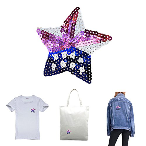 DIvine Star Sequins Patches Sew-On Clothing Accessories Decoration Appliqued for clothes DIY Patch Clothing Coat Jeans Craft Curtain