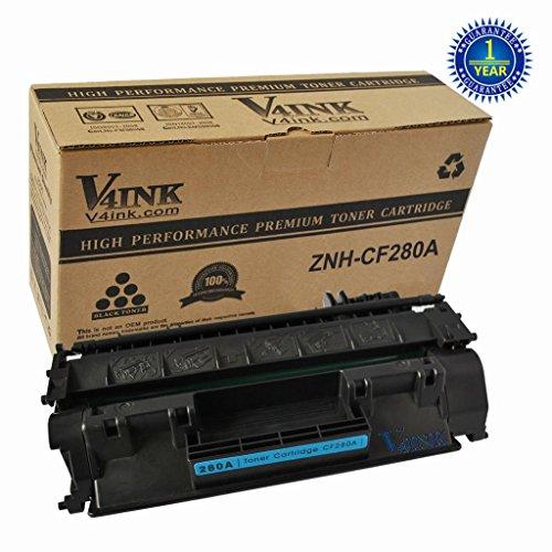 1 Pack V4INK ® CF280A Compatible Toner Cartridge (80A) for LaserJet Pro 400 MFP M401 / M425 Laser Toner Printers
