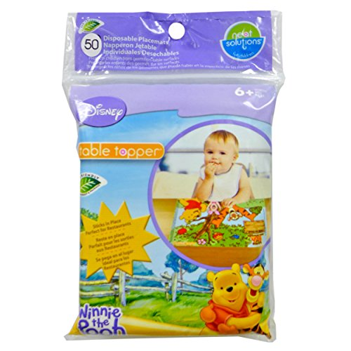 Disney Winnie The Pooh Table Topper Disposable Stick-on Placements in Reusable Package, Gender Neutral Design