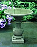 Campania International B-075-GS Siena Birdbath, Grey Stone Finish