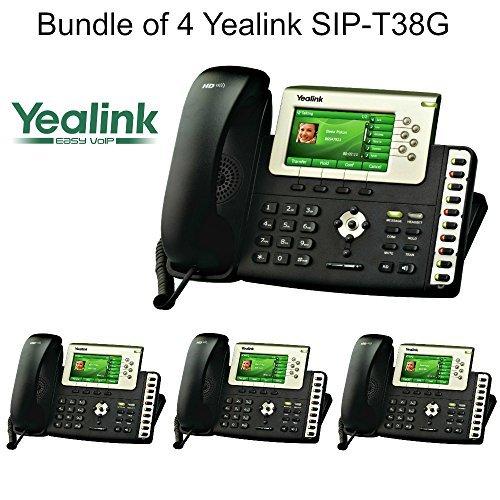 Yealink SIP-T38G - Bundle of 4 Gigabit Color IP Phone SIP-T38G by Yealink ()