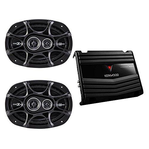 Kenwood KAC5206 400W 2Ch Amp w/ Kicker 41DSC6934 6x9 Speaker Package