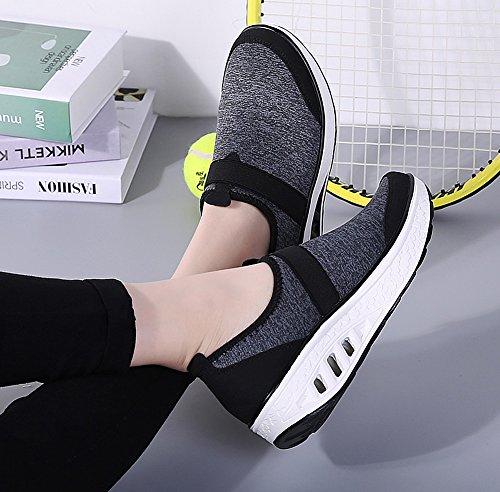 Sneakers Transpirable Mujer Plataforma Adelgazar Caminar Zapatos Oscuro Deporte Fitness a lovejin Cu Gris Zapatos Sneakers zZAawwq