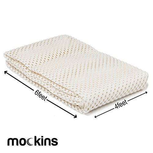 Mockins Premium Grip and Non Slip Rug Pad 4 x 6 ft Area Rug Pad Keeps Your Area Rugs Protected and in Place On Any Hard Floors Or Hard Surfaces …
