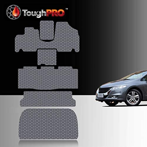 TOUGHPRO Floor Mat Accessories 1st + 2nd + 3rd Row + Cargo Mat Accessories Compatible with Honda Odyssey – All Weather – Heavy Duty – (Made in USA) – Gray Rubber – 2005, 2006, 2007, 2008, 2009, 2010