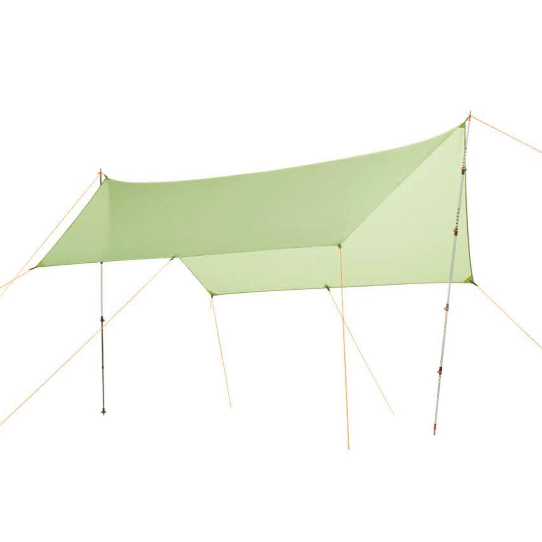 ビーチテント 20D シリコーンナイロン製 レインフライテント タープシェルター キャンプシェルター 雨よけサンシェルター ビーチピクニック用サンシェード  イエロー B07QV7XPLL