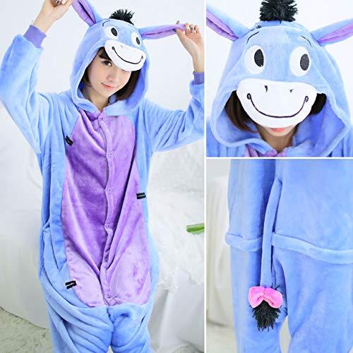 Invierno Conjunto Pijamas Mujeres Suave Conjuntos Mujer Homewear Unicornio Donkey Una De Dormir Animal Super Onesie Ropa Pieza Sola Adultos Jylw 5AnWxPwx