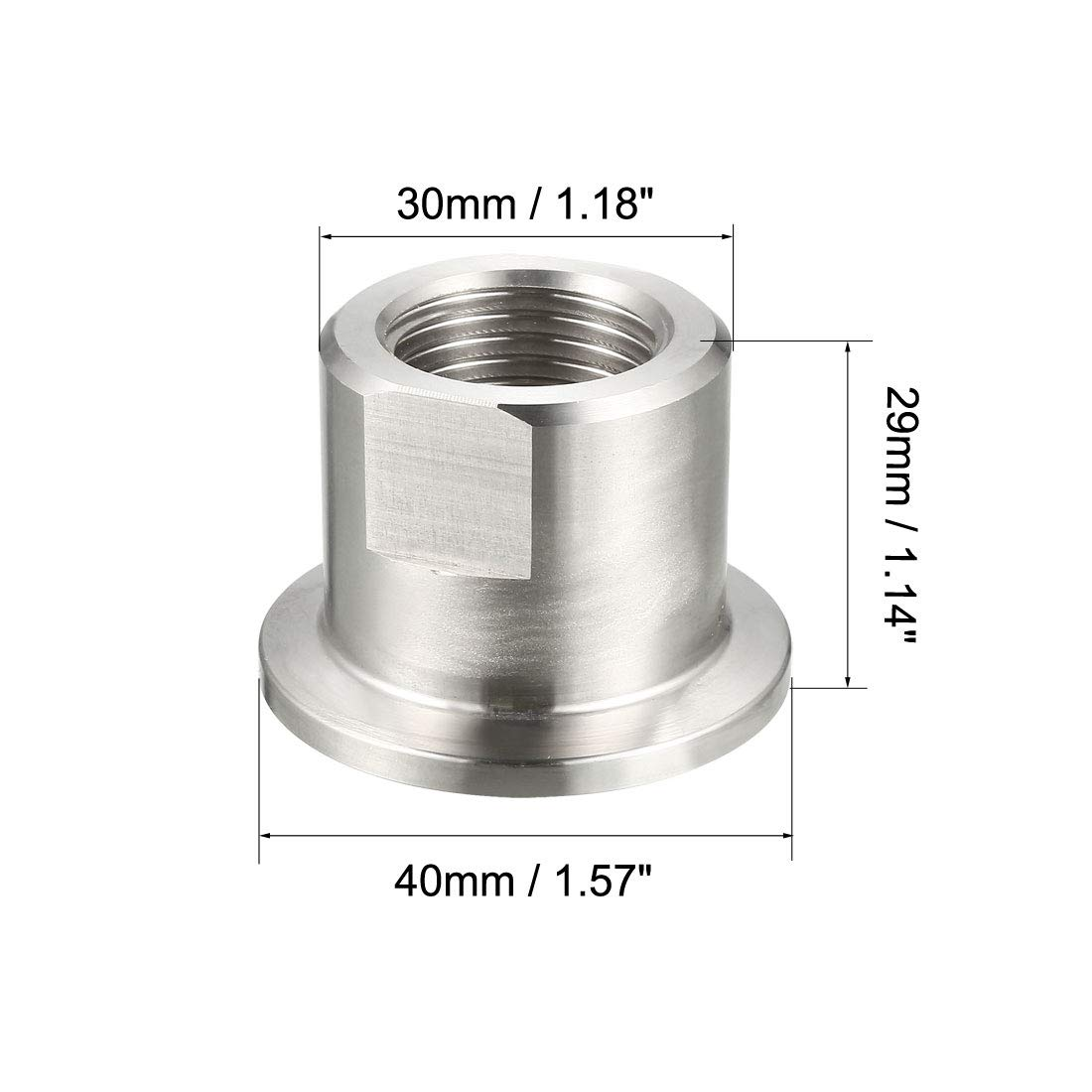 uxcell Sanitary Pipe Fitting KF25 Female Threaded 1//2 PT to Tri Clamp OD 40mm Ferrule 2 Pcs