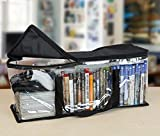 Besti High Quality Home DVD Storage Bags (2-Pack) Holds 80 Total Movies or Video Games, Blu-ray, | Convenient Travel Case for Media | Stackable, Easy to Carry