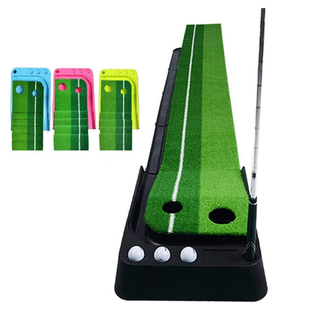 フェアウェイでトレーニング打撃パッドで250×30CM練習ゴルフパッティングマット2穴 Yellow  B07PGKFBMN