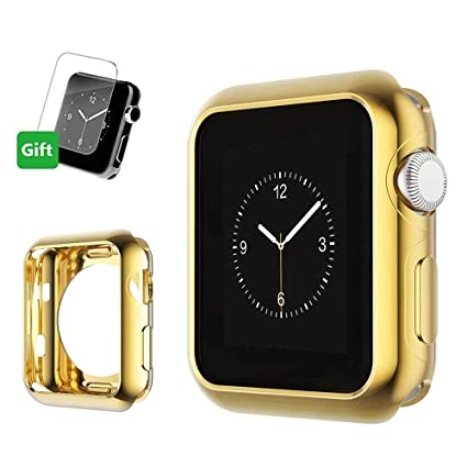 Mihutu Apple Watch Funda, iWatch TPU Suave Cubierta Parachoques Protectora Carcasa [Incluye Protector de Pantalla], para Apple Watch Series 1/ Series ...