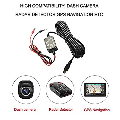 Meknic Dash Cam Hardwire Kit, 11.5FT Mini USB Hard Wire Kit Fuse for Car Dash Camera,12V-30V to 5V 2A Hardwire Dash Cam Kit with Battery Protection,Gift 4 Fuse Tap Cables(Operation Manual Included): Car Electronics