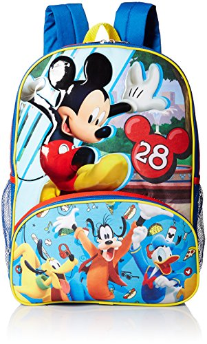 Disney Boys' Mickey Mouse Backpack, Blue (Backpack For Boys Mickey Mouse)