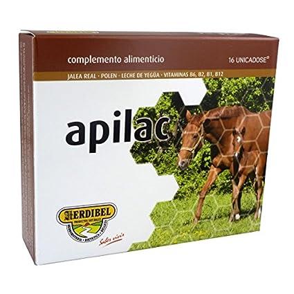 Apilac 24 ampollas, Jalea Real con polen, leche de yegüa y vitaminas