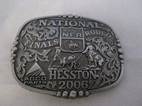 2006 Wrangle PRCA Hesston NFR Belt Buckle -- Team Roping -- Adult Size